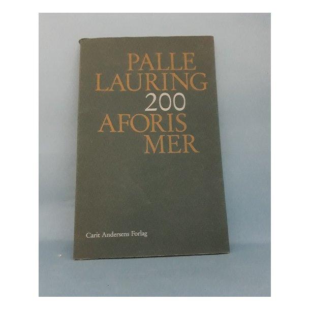 200 aforismer, Palle Lauring