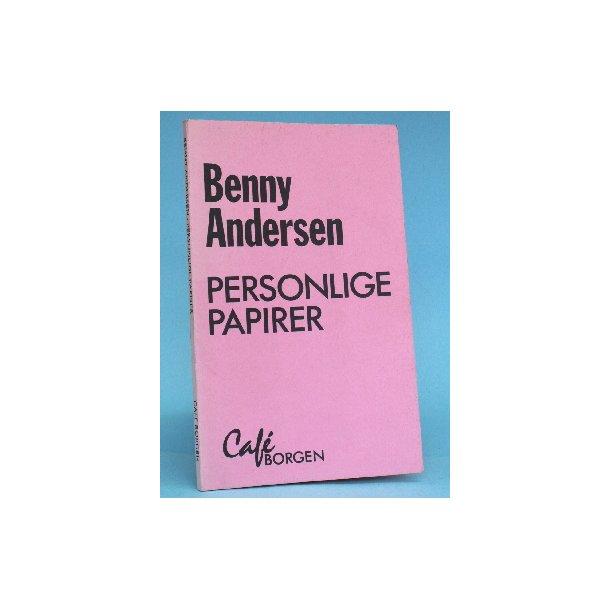 Benny Andersen: Personlige papirer - digte