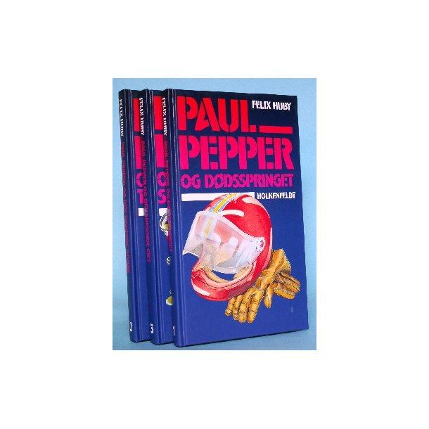 3 forlagsfriske Paul Pepper bøger, Felix Huby