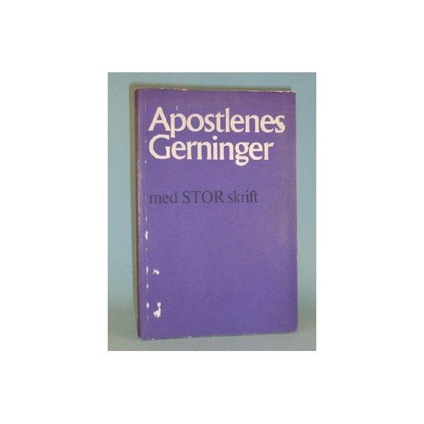 Apostlenes gerninger med STOR skrift.