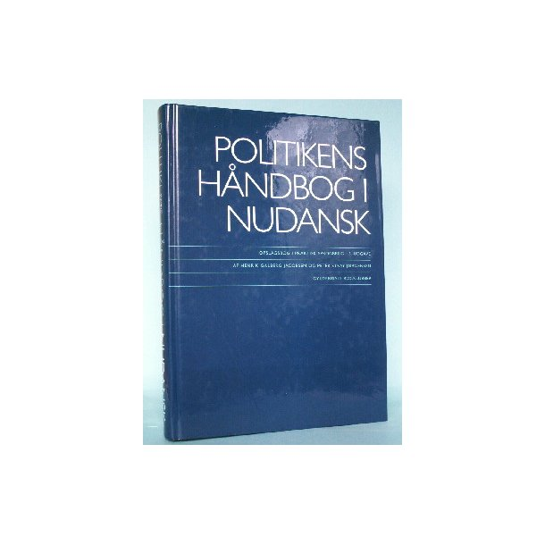 politikens håndbog i nudansk