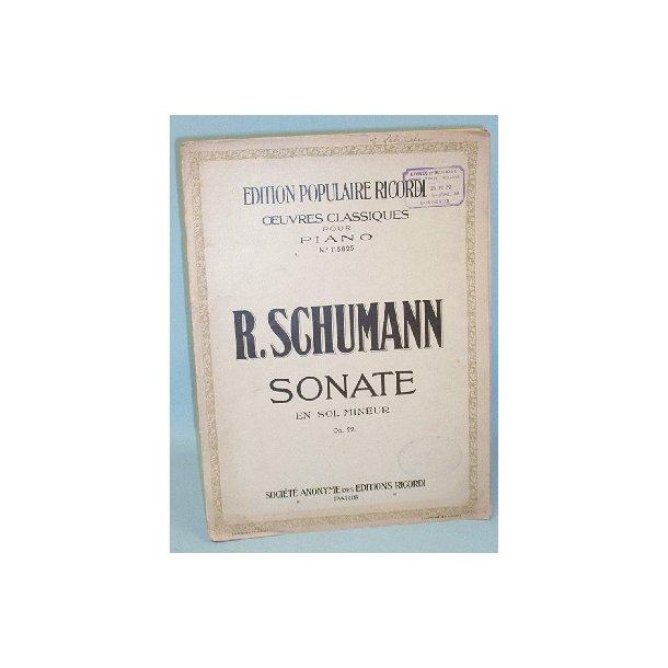 Robert Schumann: Sonate en sol mineur