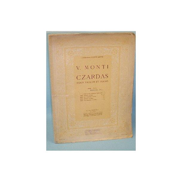 Czardas pour Violon et Piano, V. Monti